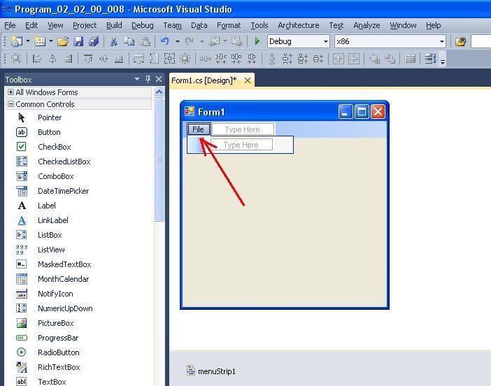 008 - Пример создания меню в C#. Элемент управления menuStrip BestProg