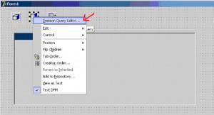 Delphi. Вызов редактора для настройки в компоненте DecisionQuery1