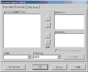 "Delphi. Окно редактора ""Decision Query Editor"""