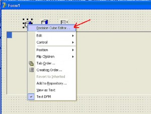 "Delphi. Вызов редактора ""Decision Cube Editor"" компонента DecisionCube1"