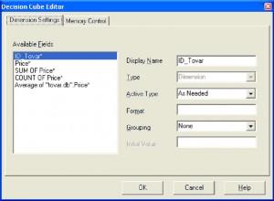 "Delphi. Окно редактора ""Decision Cube Editor"""