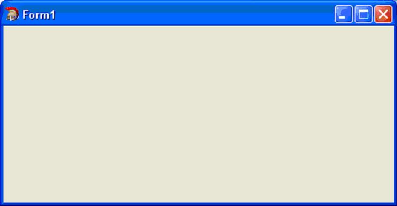 C++ Builder. Окно программы после запуска приложения