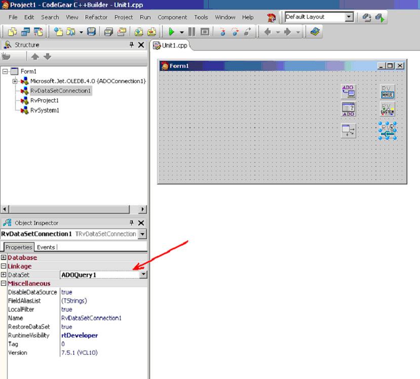 C++ Builder зв'язок звіт база даних