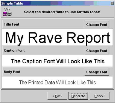 Отчет Rave Report шрифты заголовок