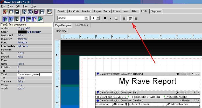 Rave Report Вкладка Fonts