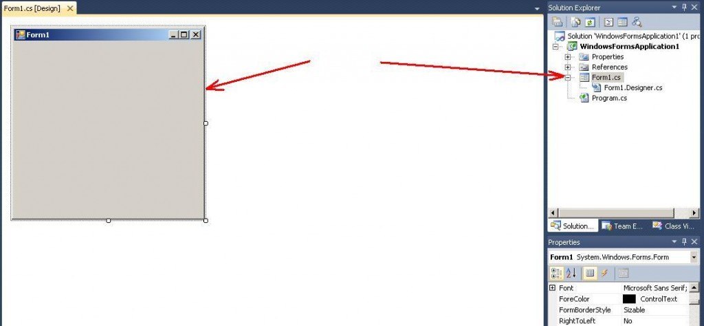 Visual Studio - C# основна форма додатку Form1