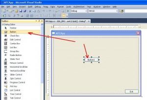Visual C++. Шаблон MFC Application. Вынесение кнопки не привязанной к обработчику событий