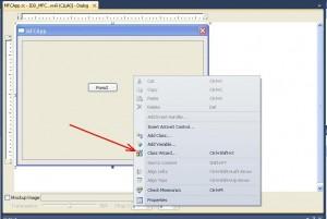"""Visual C++. Шаблон MFC Application. Вызов """"Class Wizard..."""" для создания класса и ресурса диалогового окна"""