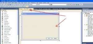 Visual C++. Шаблон MFC Applicaiton. Окно класса CForm2, который унаследован от класса CDialog
