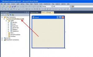 Visual Studio подключение база данных
