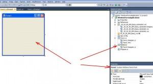 MS Visual Studio Создание формы