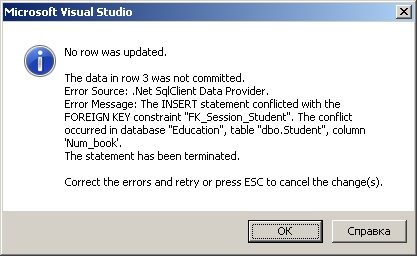 SQL Server error data table