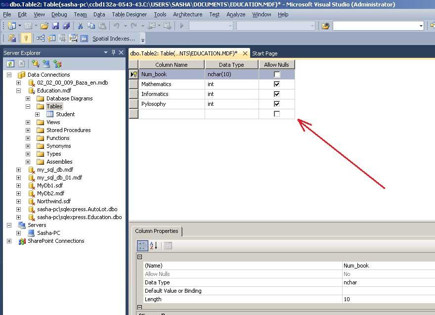 SQL Server таблиця рисунок