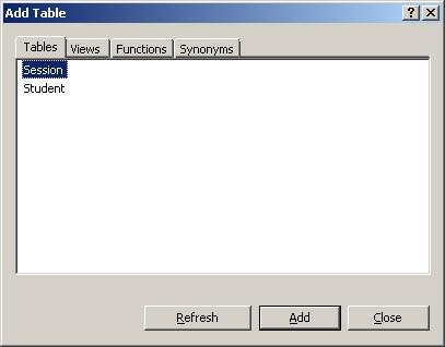 MS SQL Server Вибір таблиця