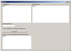 C#. Шаблон Windows Forms. Форма приложения
