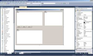 C#. Windows Forms Application template. The main form of program