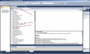 Microsoft Visual Studio. Вікно Object Browser з виділеною збіркою mscorlib.dll
