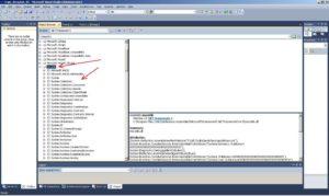 Microsoft Visual Studio. Вікно Object Browser. Збірка mscorlib та список просторів імен, що входять в неї