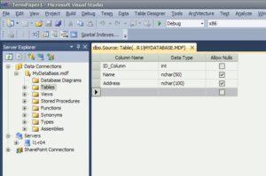 SQL Server задание поле таблица