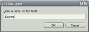 SQL Server имя таблица