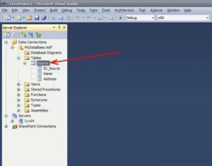 база данных SQL Server таблица