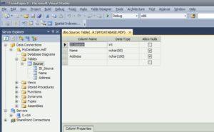 SQL Server таблица структура рисунок