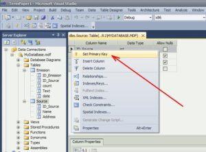 SQL Server первинний ключ таблиця