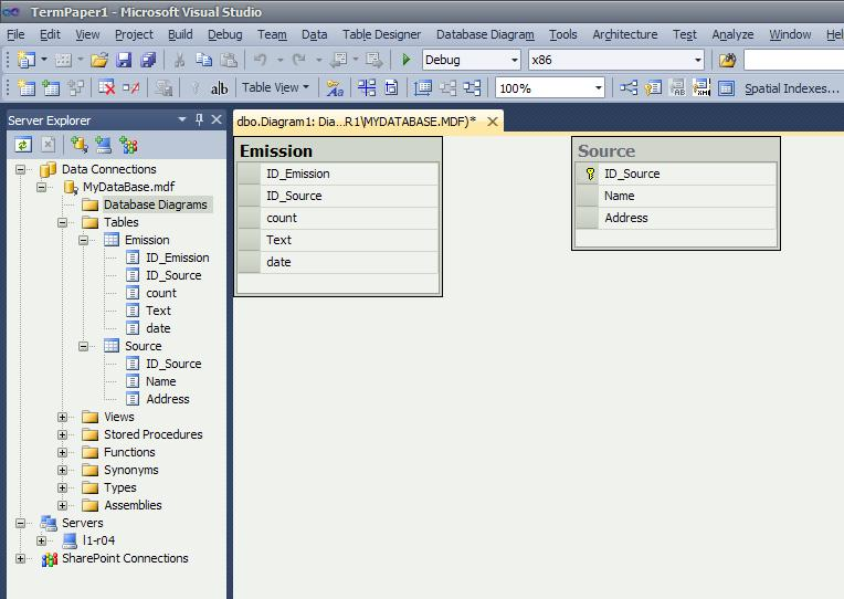 MS SQL Server database  Creating a relation between tables