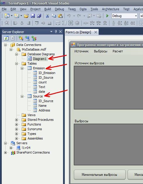 База данных MS SQL Server Таблицы диаграмма связей
