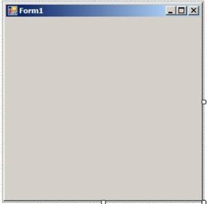 C#. Приложение типа Windows Forms Application. Форма приложения после создания проекта