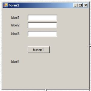 C#. Windows Forms Application. Форма приложения после размещения элементов управления