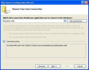 MS Visual Studio. Настройка соединения с базой данных MS Accesss. Строка ConnectionString