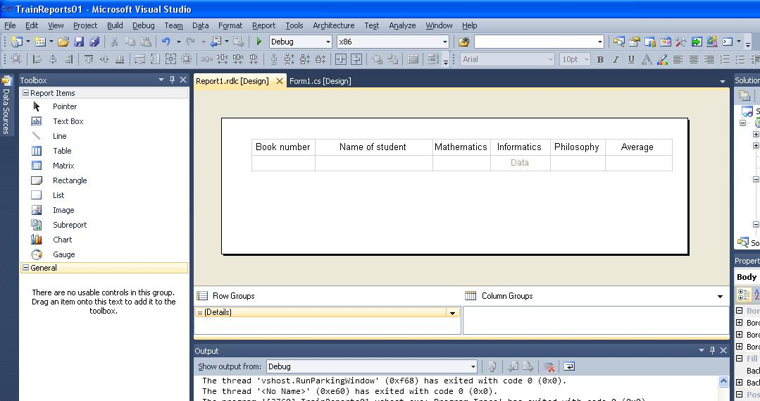 C#  Example of report creating  Report Viewer | BestProg
