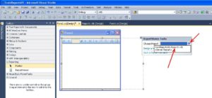 C# Windows Forms project file ReportViewer control