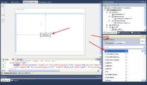 C# WPF Application Программирование события Click элемента управление button1
