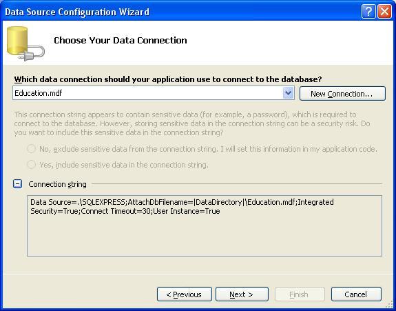 База даних Microsoft SQL Server. Рядок ConnectionString