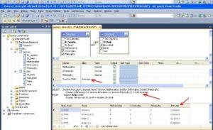 Visual Studio выбор поле запрос