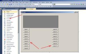 C#. Шаблон Windows Forms Application. Размещение элементов управления типа Button