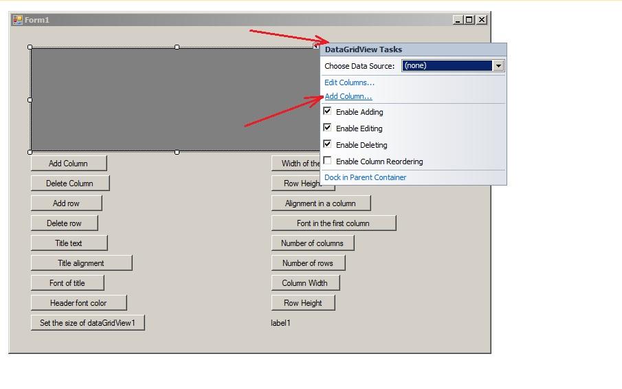 C#  Demonstration of operation of DataGridView control | BestProg