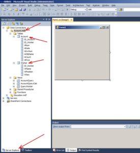 Утиліта Server Explorer. Підключення бази даних Account.mdb