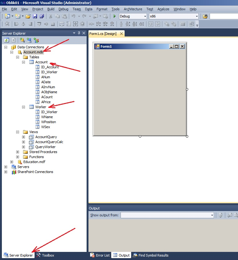 C#  Course work  Accounting of material assets    BestProg