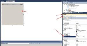 MS Visual Studio - C#. Налаштування властивостей форми Form1