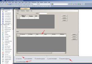 C# - Windows Forms. Вікно форми після підключення таблиці Account до dataGridView2