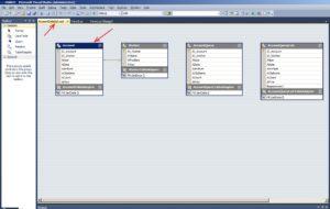 C#. База даних MS Access. Відображення таблиці Account у файлі AccountDataSet.xsd