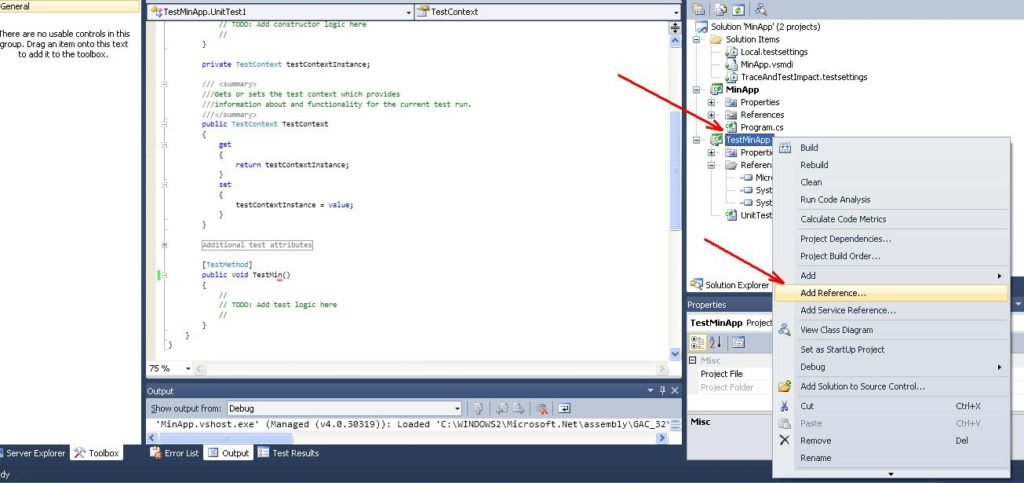 "Visual Studio C# Команда ""Add Referencse..."""