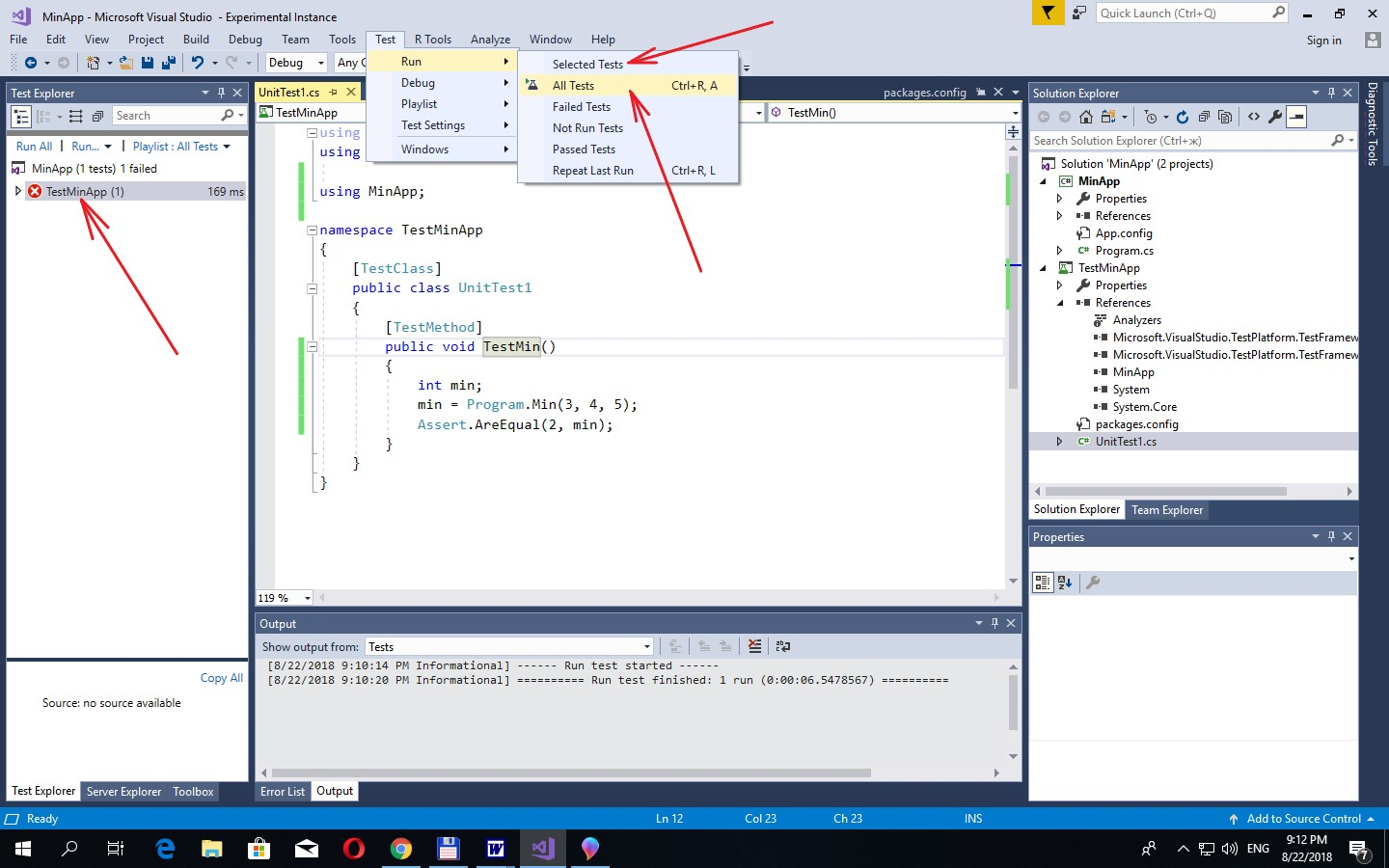 C#  Creating a Unit-test in MS Visual Studio 2017 | BestProg