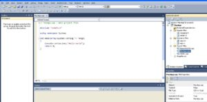 MS Visual Studio Application C++