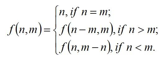 Euclidean formula
