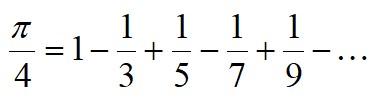 The formula of pi