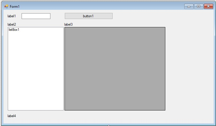 C++. Windows Forms template. Main form